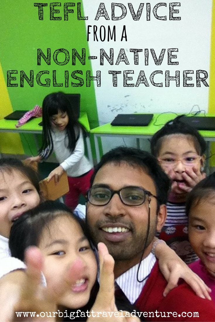 TEFL advice from a non-native English teacher, Pinterest Poster