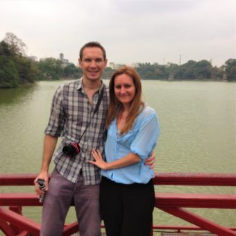 Us, revisiting Hanoi, overlooking Hoan Kiem Lake