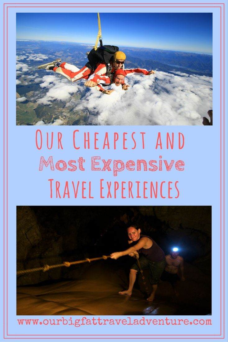 Our Cheapest and most Expensive Travel Experiences, Pinterest Pin