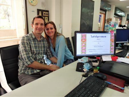 Us in the Chiang Mai District Office getting our marriage certificates