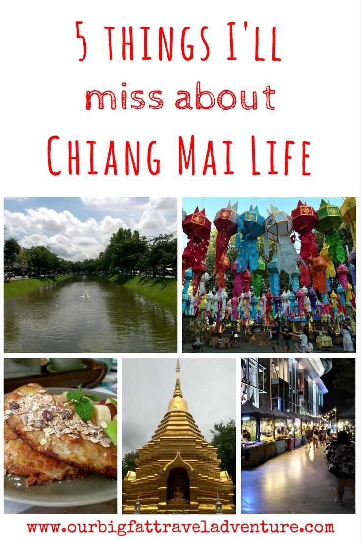 5 things I'll miss about Chiang Mai life, Pinterest Pin