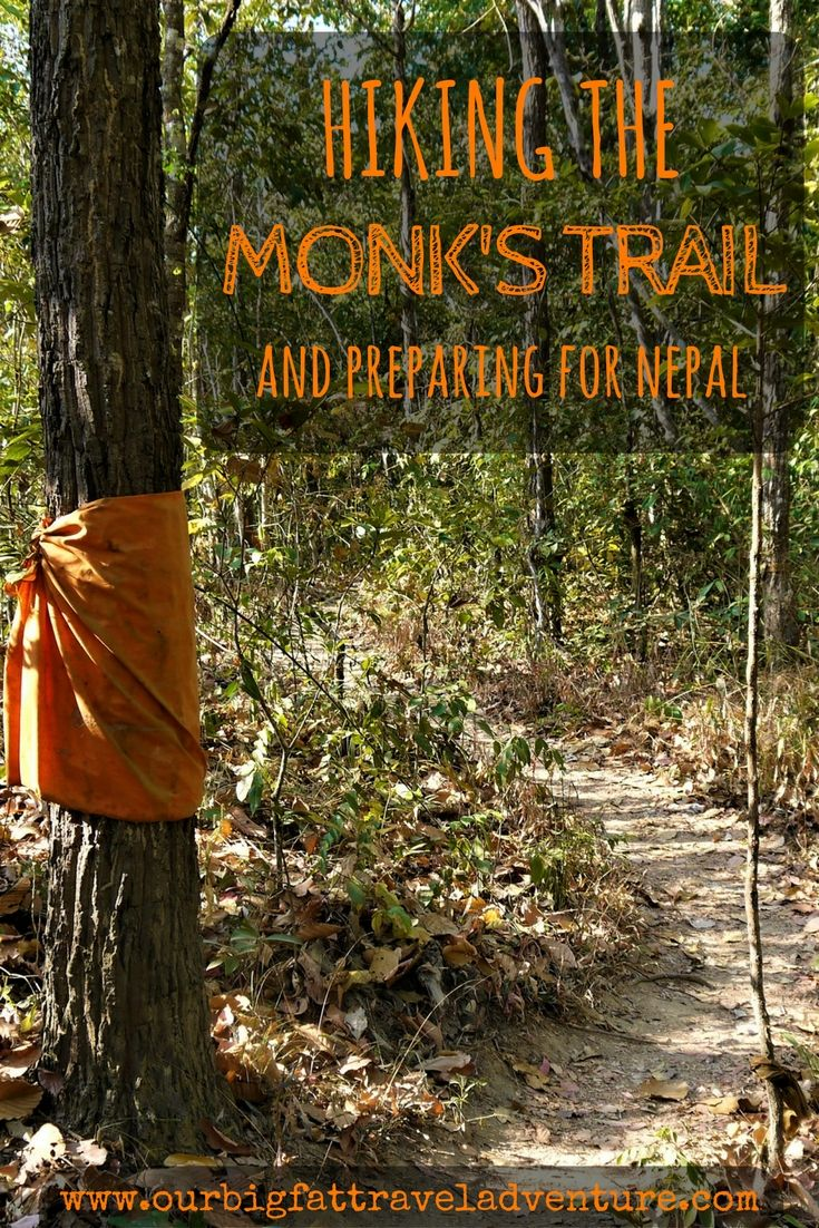 Hiking the Monk's Trail Pinterest Pin