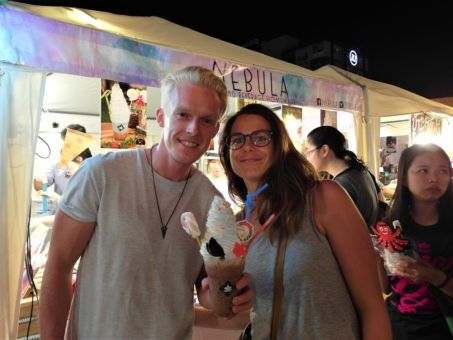Darren and Shelley at the Ping Fai Festival in Chiang Mai