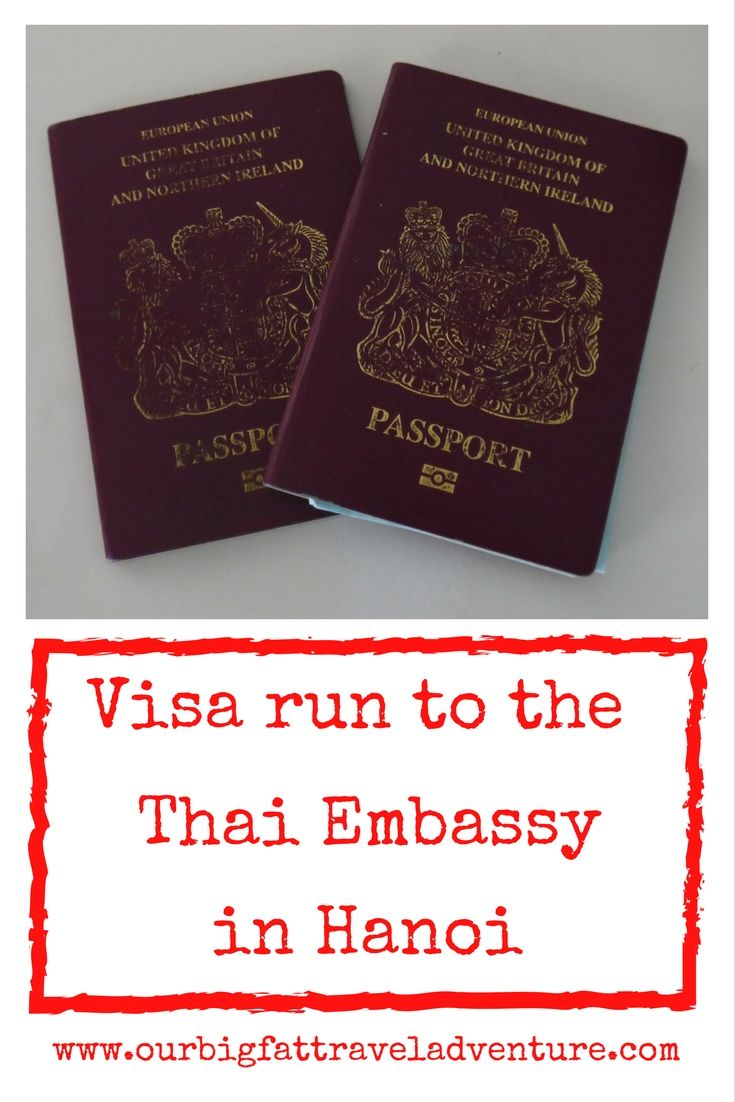 Visa run to the Thai Embassy in Hanoi, Pinterest Pin