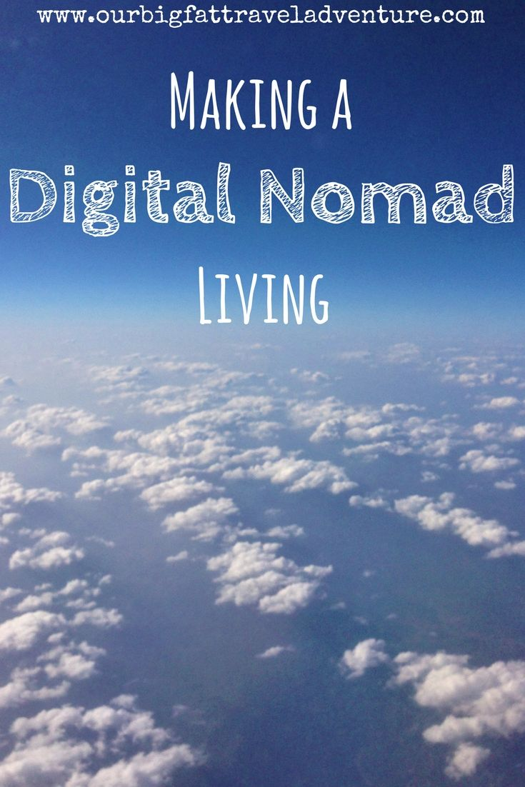 making a digital nomad living, Pinterest pin