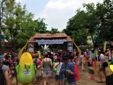 Chiang Mai Songkran Festival 2017, the action at Tha Pae Gate