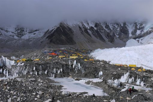 The tents at Everest Base Camp in Nepal