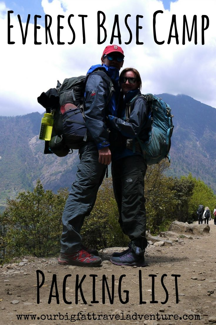 Everest Base Camp Packing List, Pinterest