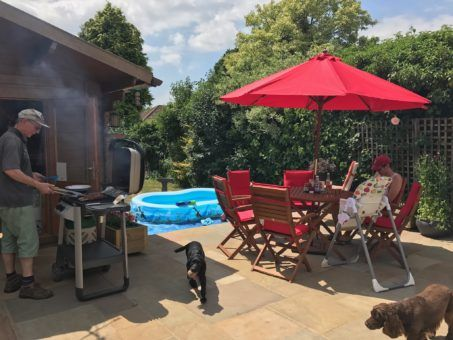 Back garden BBQ in the UK