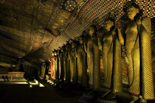 Buddha statues at The Dambulla Cave Temples, Sri Lanka