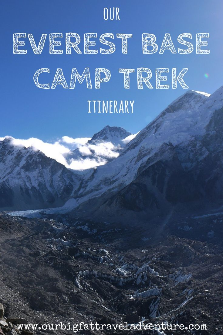 Our Everest Base Camp Trek Itinerary, Pinterest