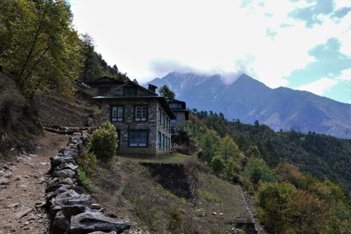 Abandoned house in Lukla on the Everest Base Camp Trek