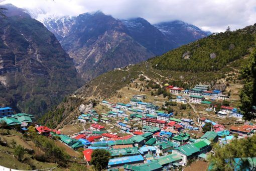 Namche Bazaar, the main town on the Everest Base Camp Trek