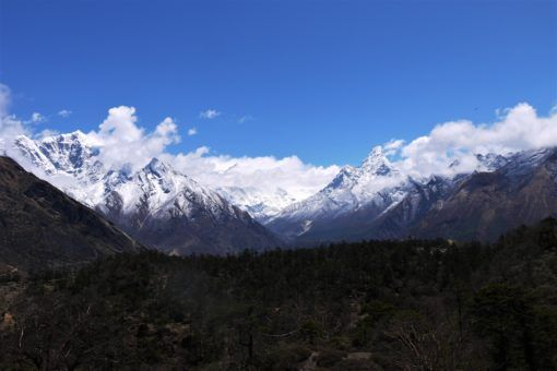 The Himalayas, as seen from an Everest View Point near Namche Bazaar