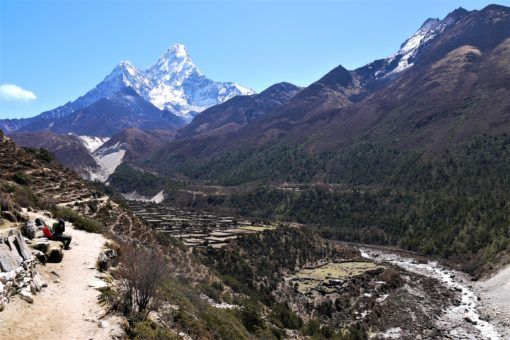 View of Ama Dablam on our way to Dingboche