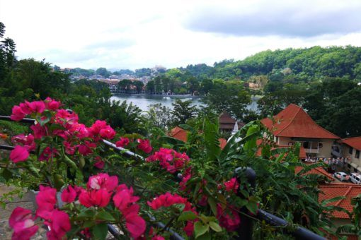 The Kandy Lake view from Heaven Seven Hotel