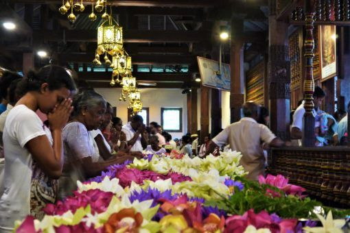 The morning Puja at the Temple of the Sacred Tooth Relic, Kandy