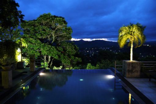Infinity pool at Theva Residency, Sri Lanka