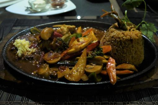 Vegetable Fajitas at Theva Residency restaurant