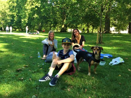 Me with friends and Billy the dog in St James' Park