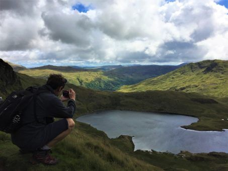 Andrew taking photos in Snowdonia National Park, Wales