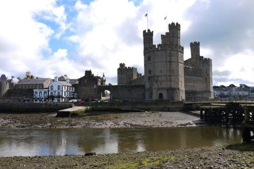 Caernarfon Castle from across the river in Wales