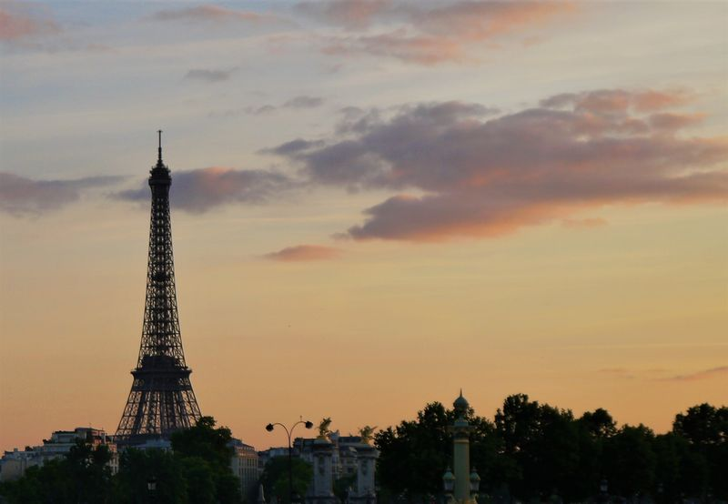 Eiffel Tower at sunset, my Paris wish list