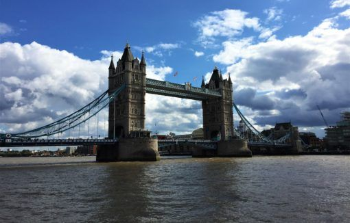 Cruise down the Thames and see sights like Tower Bridge, one of the top sights when visiting London