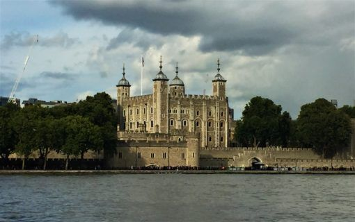 The Tower of London from the southern side of the Thames