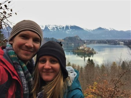 Us at Lake Bled, Slovenia