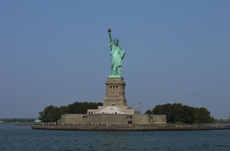 The Statue of Liberty on Liberty Island, New York