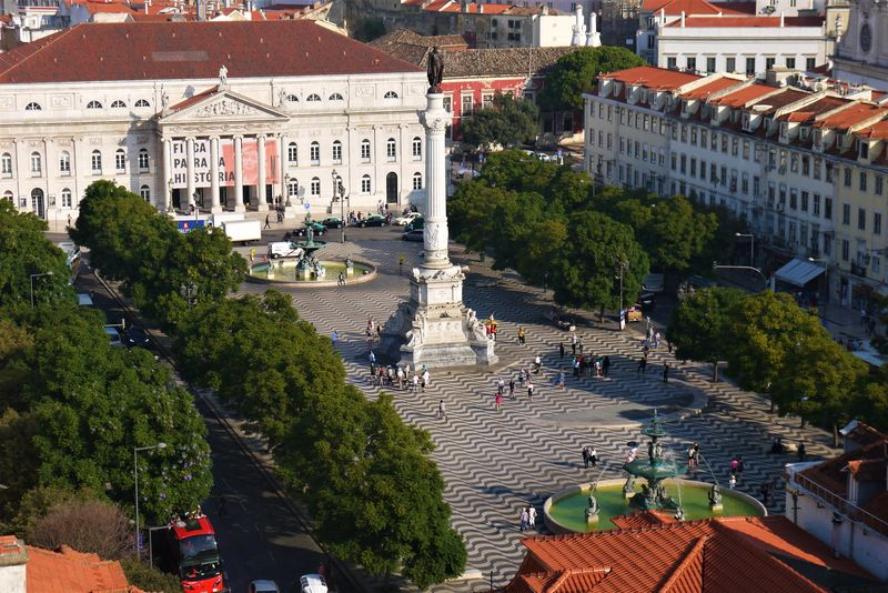 View over Lisbon from the Elevador de Santa Justa