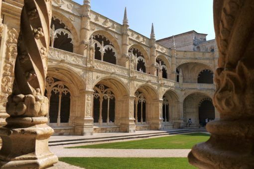 The inside courtyard of the Mosteiro dos Jeronimos, Belem