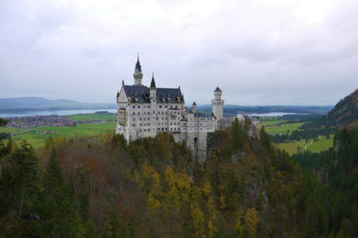 Neuschwanstein Castle from the Marienbrucke Bridge, Germany