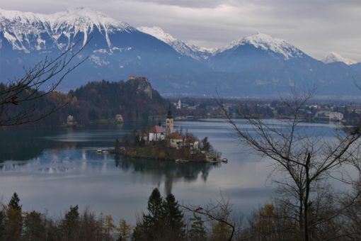 Lake Bled in the winter, Slovenia