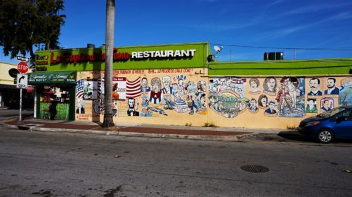 Colourful murals in Little Havana, Miami