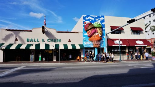 Bars and Cigar shops on Calle Ocho, Little Havana, Miami