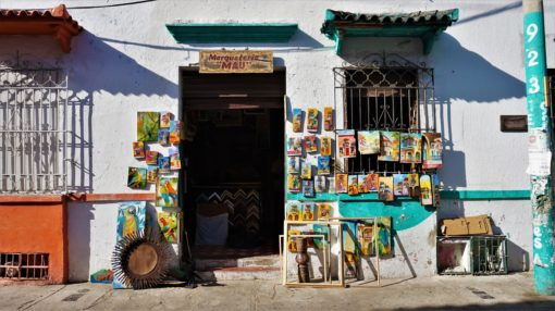Decorative shopfront in Cartagena, Colombia