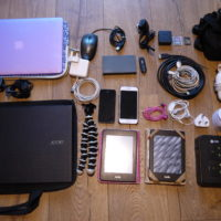 Our electronics for our South America Trip
