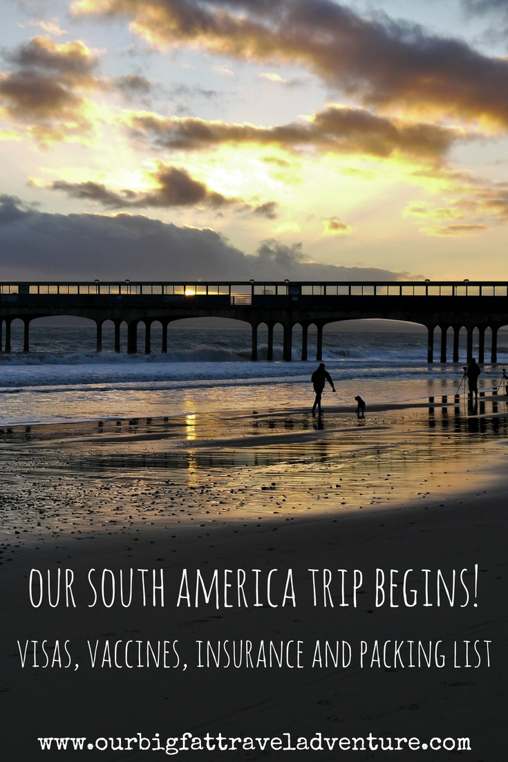our south america trip begins, Pinterest pin