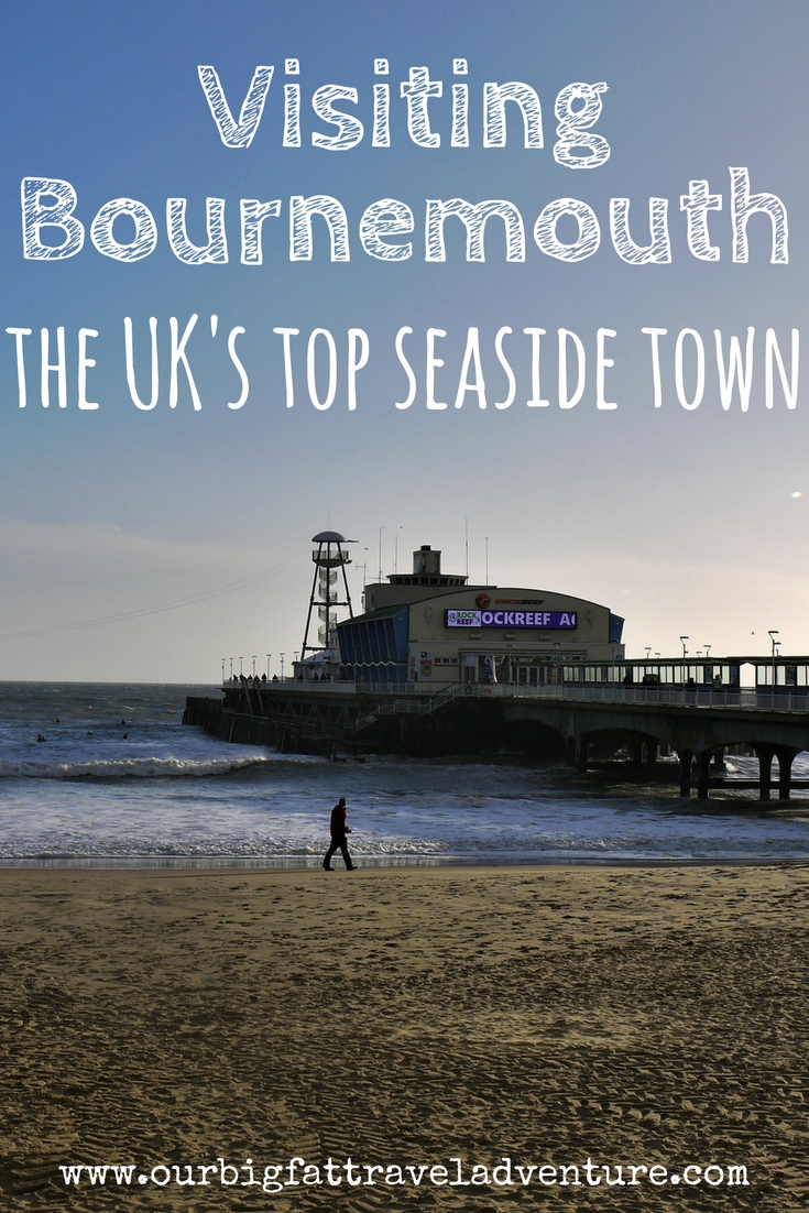 visiting Bournemouth, the UK's top seaside town, Pinterest Pin