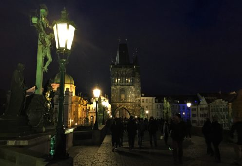 Charles Bridge, Prague, at night