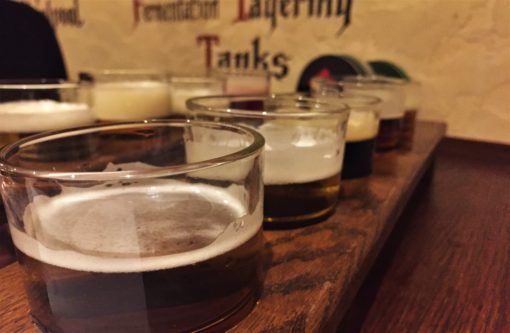 Beer tasting at the Prague Beer Museum