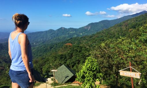 Amy taking in the view at Casa Elemento Minca Colombia