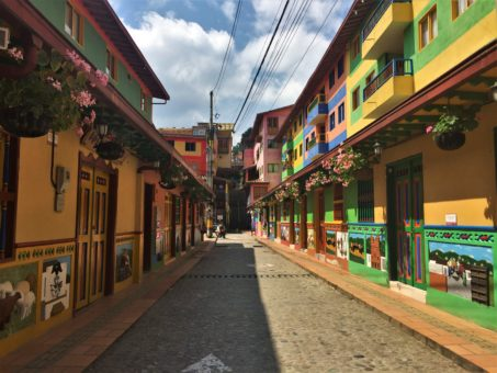 The colourful streets of Guatape, Colombia