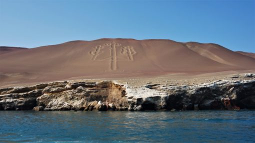 The Candelabra, pre-Inca carving in Paracas National Reserve