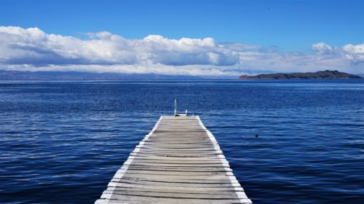 The dock for Sun Island, Lake Titicaca