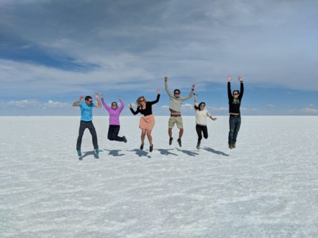 Obligatory jumping shot on the Bolivian Salt Flats tour