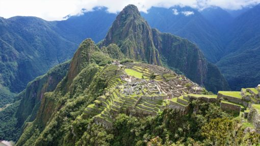 View overlooking Machu Picchu in Peru