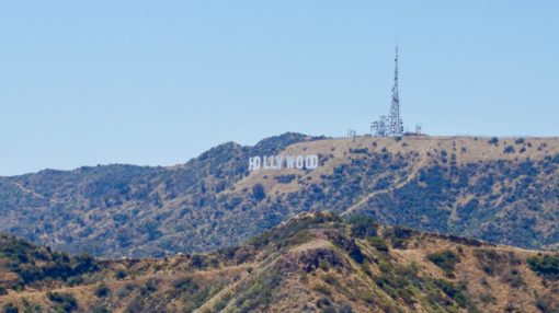 View of the Hollywood Sign from Griffith Park, LA